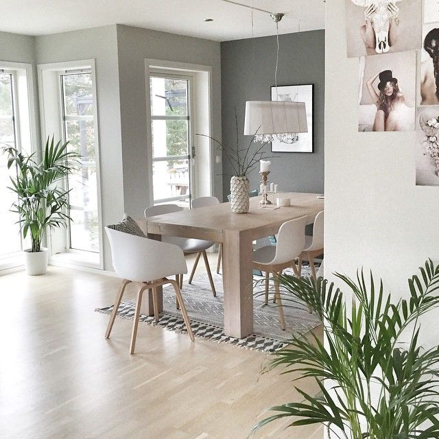 """This spring I'm wishing for a lot of big, greens plants.  And a new lamp to hang over our diningtable. What is on your interior-wishlist @i_passion_design, @asasalo"