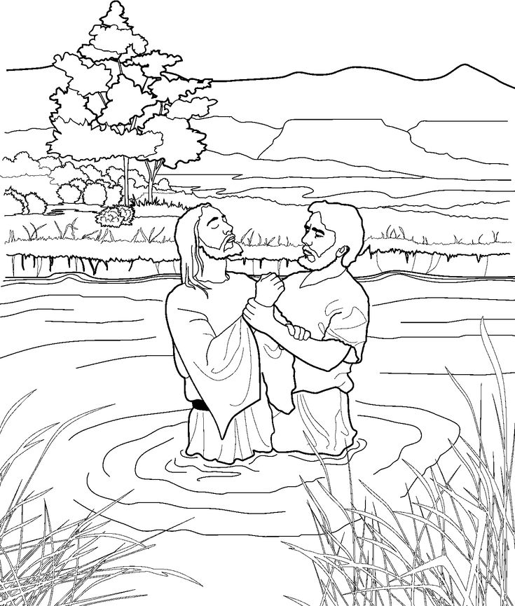 John the baptist coloring page for kids from lds org ldsprimary mormon