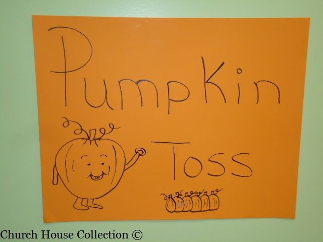 Fall Festival Games for Church -Pumpkin Toss Game