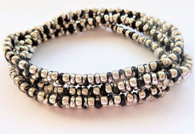 Silver dream Wrap Bracelet  or Necklace ,Gift for her £8.00