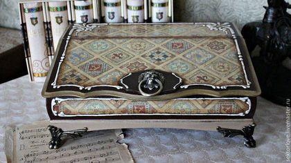 Мини-комоды ручной работы. Ярмарка Мастеров - ручная работа Секретер бюро для бумаг   органайзер. Handmade.