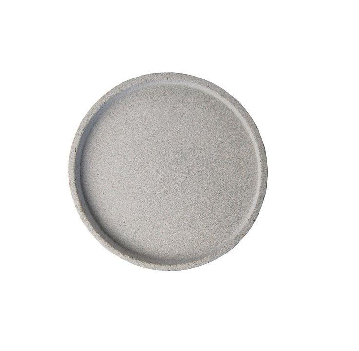 Concrete Round Tray Small