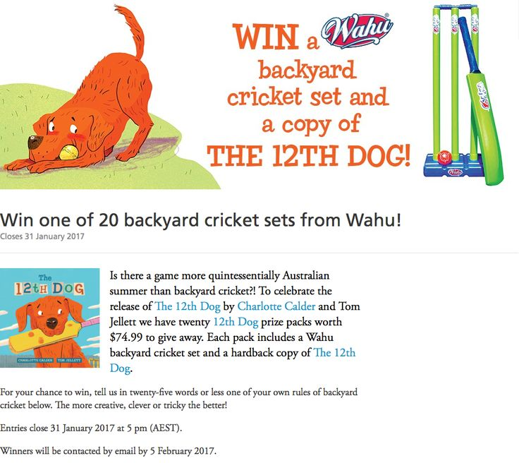Hachette have created a fab competition to go with The 12th Dog!