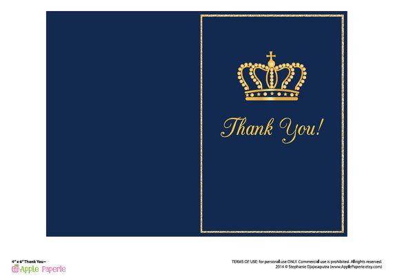 baby shower invitation boy / royal invitation / royal baby