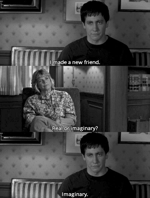 friends, donnie darko, and imaginary afbeelding