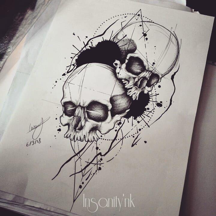 Projet à adopter  27 cm de haut ; il est à mettre sur une cuisse, un mollet, un biceps ou dans le dos  Infos, réservation -» insanitydoll@hotmail.fr  #tattoos #tattooist #tattooartist #tattooflash #tattoosketch #skull #skullhead #blacktattoos #blackwork #blackworkerssubmission #geometrictattoo #geometry #graphictattoos #dijon #ttblackink