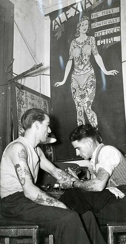 vintage everyday: Tattoos in Australia from between c.1857 & c.1948
