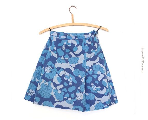 1960's blue miniskirt vintage miniskirt from the 60's by PoVintage, €19.00