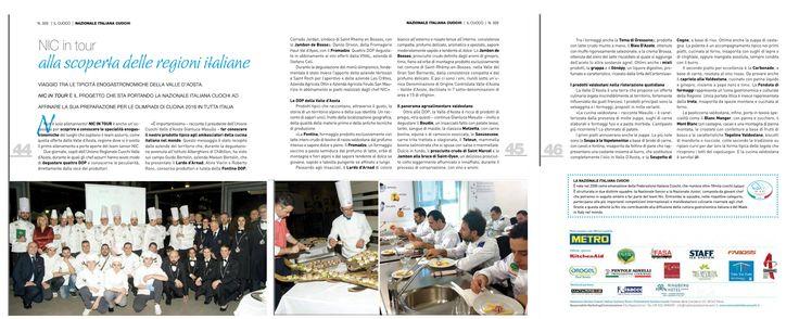 Pubblicazione articolo sulla nazionale rivista il cuoco mag 2016