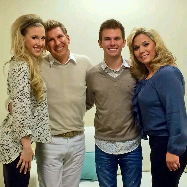 Todd & Julie Chrisley With Children Chase & Savannah Chrisley