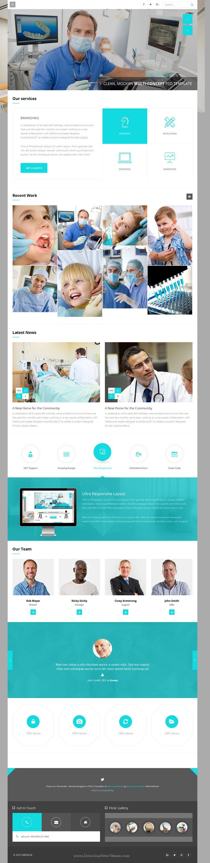 Wise is Multi-Concept Bootstrap HTML Template for multipurpose #website. It has 7 stunning homepage layouts and amazing features. #Medical #hospital Download Now!