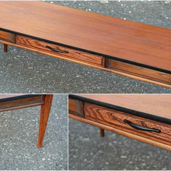 Sleek MCM Coffee Table - Sold.  #mcm #coffeetable #furniture