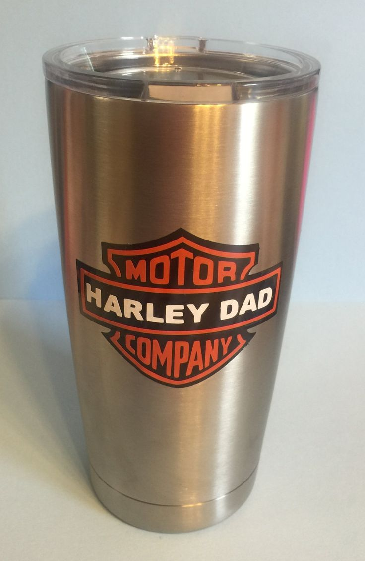 Harley Dad Personalized Yeti Tumbler By Leslisdesigns On