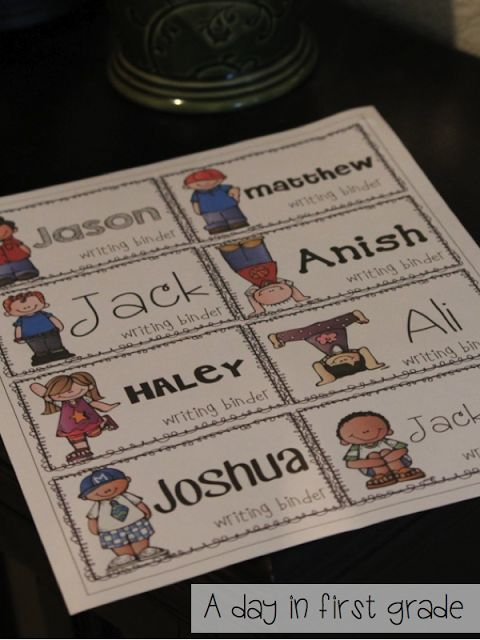 A day in first grade: Let's get organized! {FREEBIE!} labels with various fonts; links to download fonts