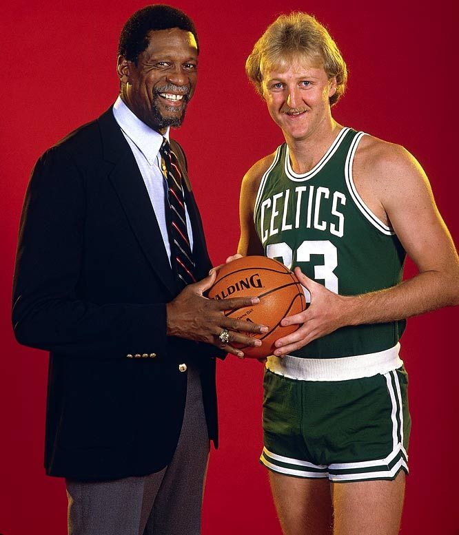 This is cool, haven't ever seen this one before. Bill Russell & Larry Bird