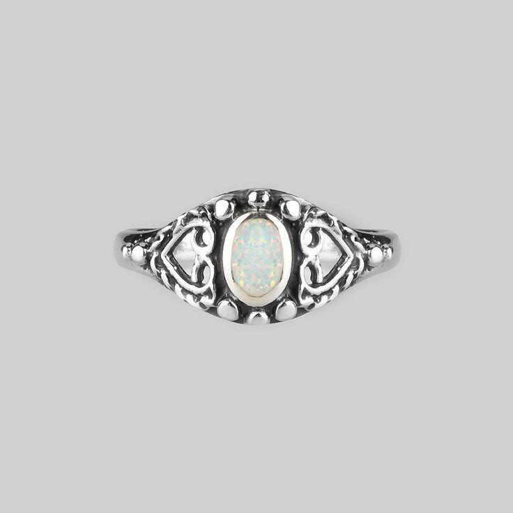 Ring - KAYA. Detailed Opal Silver Ring