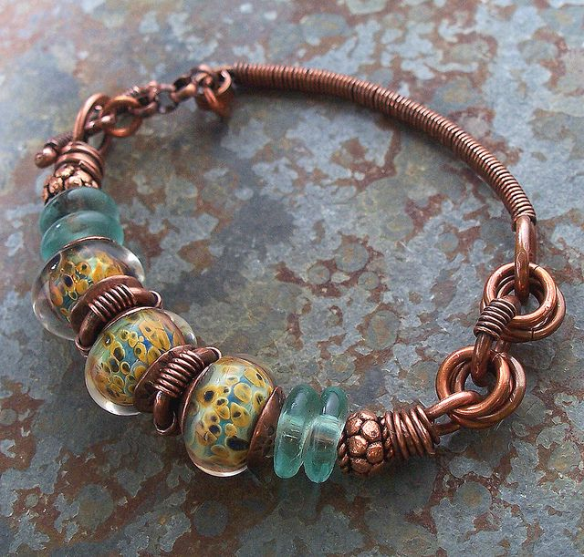 vicki's copper bracelet 004 by Lune2009, via Flickr