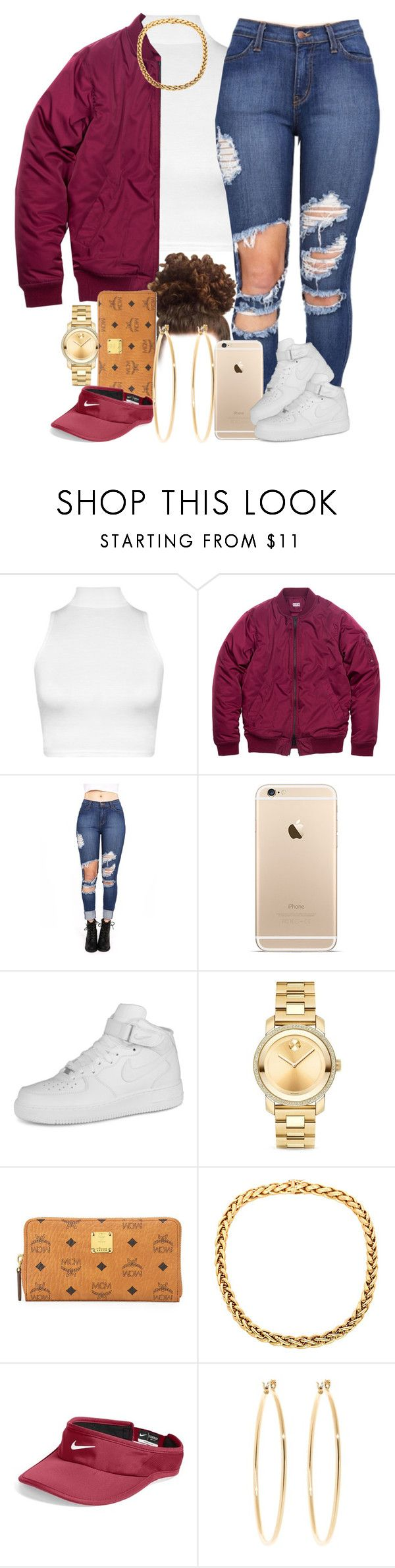 """""""Distressed. """" by livelifefreelyy ❤ liked on Polyvore featuring WearAll, NIKE, Movado, MCM, Brooks Brothers, women's clothing, women, female, woman and misses"""