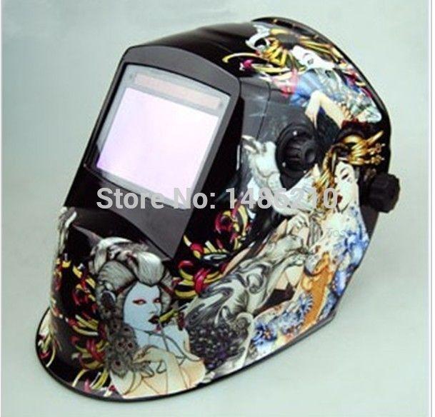 146.64$  Watch now - Auto darkening welding machine helmet Arc Tig Mig Mask Grinding Face Welder Chrome New technology  #aliexpressideas