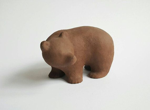 Reserved Vintage Ceramic Bear Sculpture the by pastpresenthome