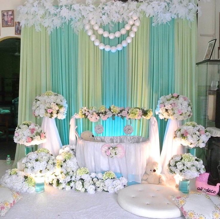 17 best images about cradle ceremony balloon decorations for Baby name ceremony decoration
