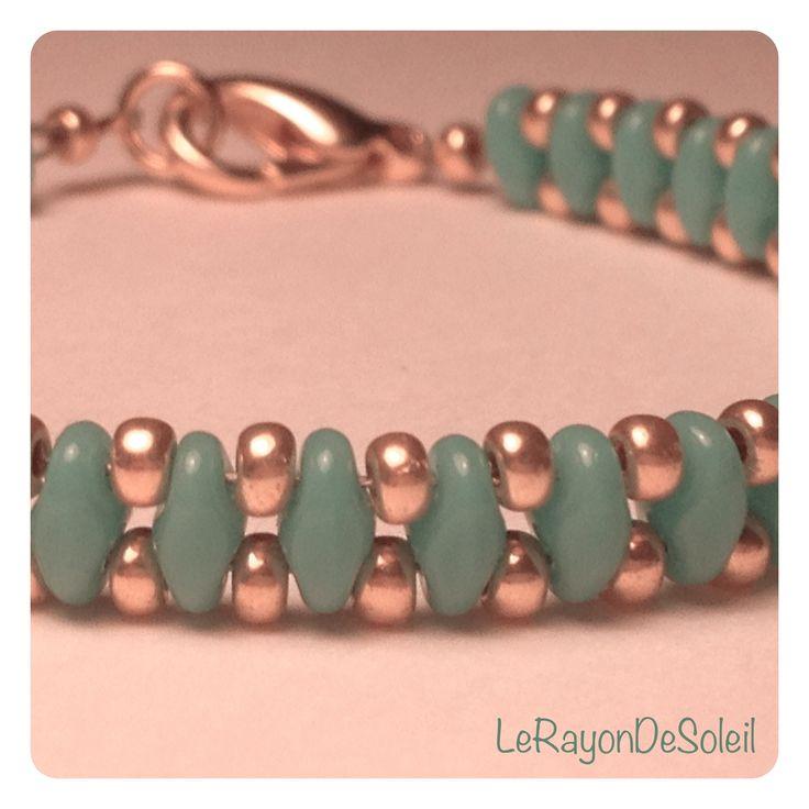 Bracelet: SuperDuo & seed beads.