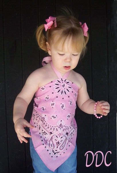 Bandana Halter Top | CUSTOM Boutique Farm BANDANA Halter Top 12m-5 EtsyKids Down on the ...