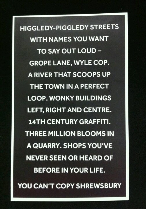 Lovely and true words about Shrewsbury