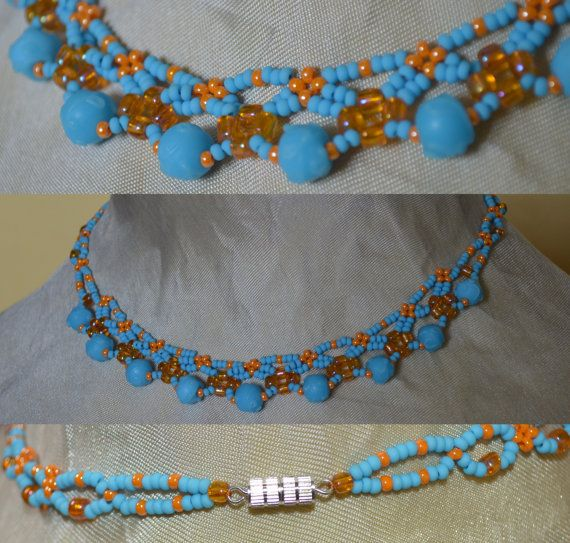 Handmade bead weaving Necklace