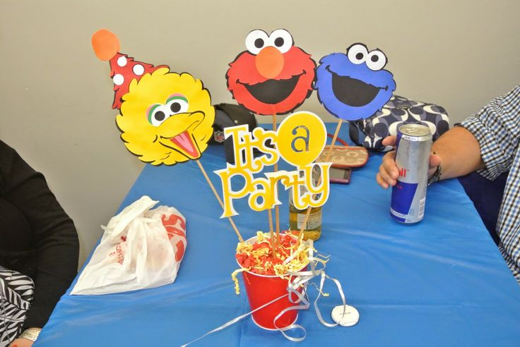 diy elmo party, diy sesame street party, sesame street party, elmo diy, big bird, centerpieces, elmo ideas