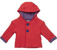 Lovely thick jacket With Plain Red Jersey and Red Star print inside the hood. 100% Organic Cotton. Machine washable