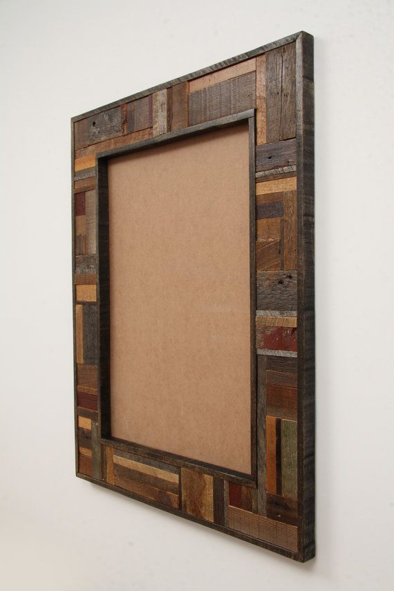 reclaimed wood mirror frame 32x25x114 mirror by carpentercraig 17000