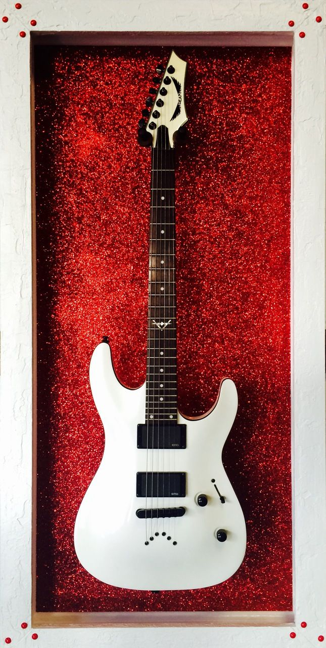 "GFrames ""Red October Stardust"" Guitar Display Case"