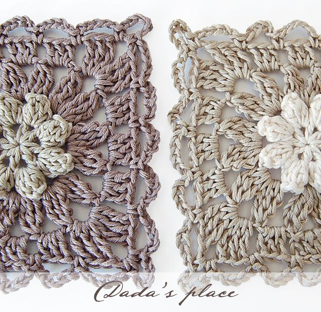 Dada's place: New Primavera flower granny square