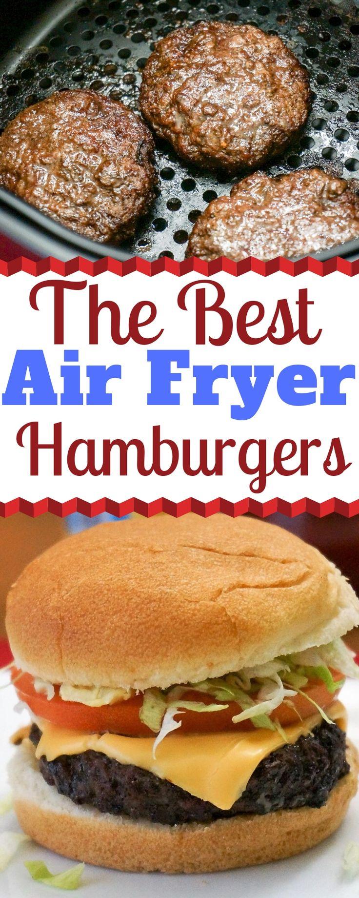 Air Fryer Hamburgers Recipe How to cook hamburgers