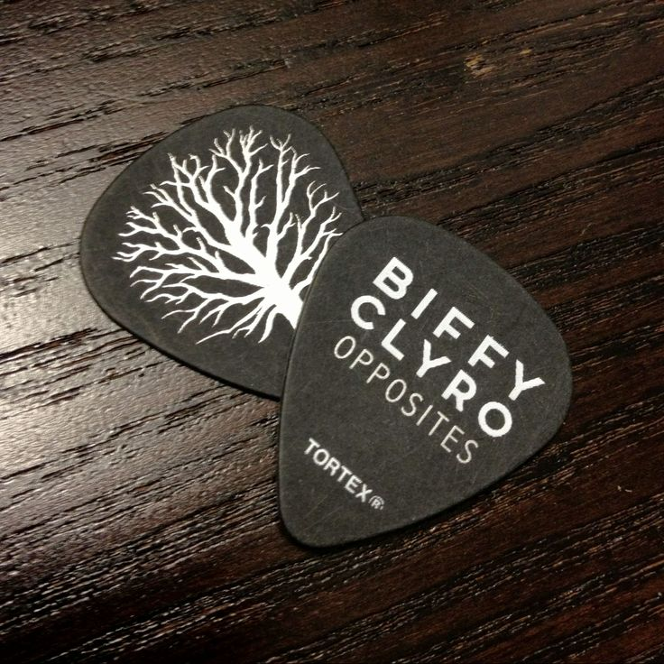 Biffy Clyro Opposites Tour custom Tortex  Dunlop pick
