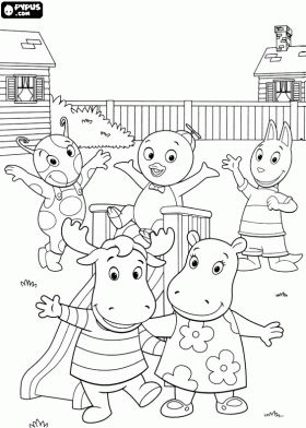 the backyardigans the buddies in their garden coloring page - Nick Jr Coloring Pages