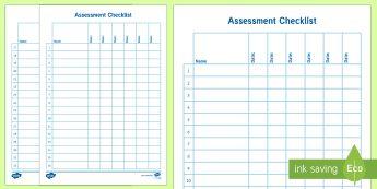 General Assessment Checklist-Australia - End of Year/Back to School Australia, assessment, checklist,Australia