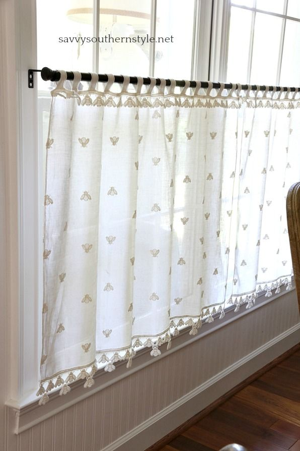 Cafe Curtain ~ Lacy Old-Fashioned Window Treatment crochet pattern
