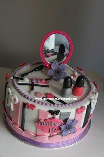 lekker zoet: Make up taart voor Amber 11 jaar..