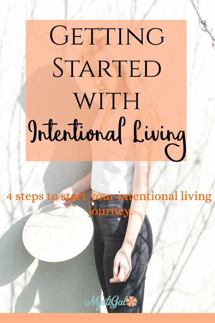 Getting Started With Intentional Living How To Live Intentionally Mystigal Intention Quotes Intentional Living Intentions