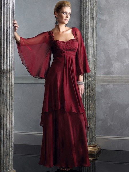 Mother Of The Bride Dress_Wine  In harvest gold or mocha or expresso