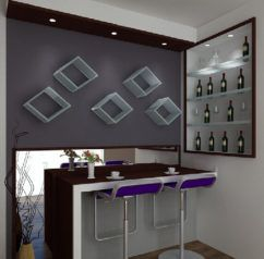 Image Result For Living Room With Bar Counter Design