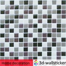 Venta al por mayor auto tela adhesiva 3d azulejo de la pared/pet papel pintado con pegamento/vinilo pared sticker for living room decor
