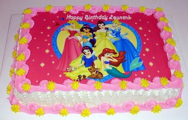 disney princess sheet cakes - Google Search  Peytons Birthday ...