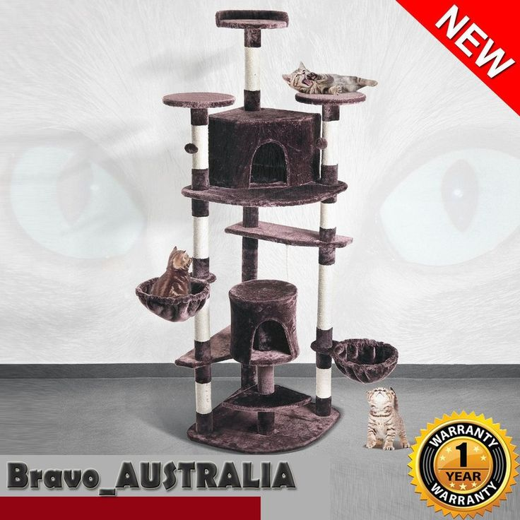 2M Cat Scratching Tree House Multi Level Furniture Post Condo Bed Toy Sisal Pole