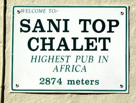 Highest pub in Africa Sanipass