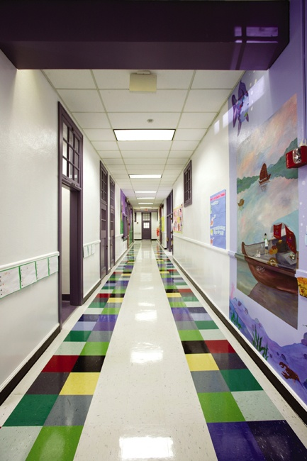 Fair Park Elementary by Herron Horton I really like to Purple trim and doors and then color
