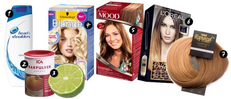 Från rött hår till ljusbrun/blond ombre