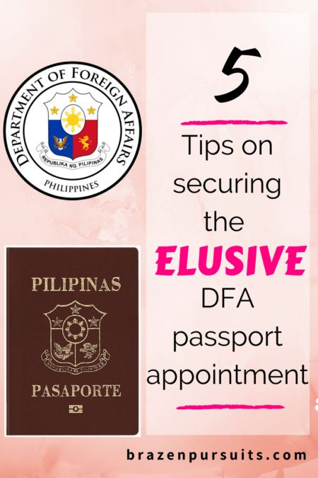 5 Tips on how to book that elusive DFA passport
